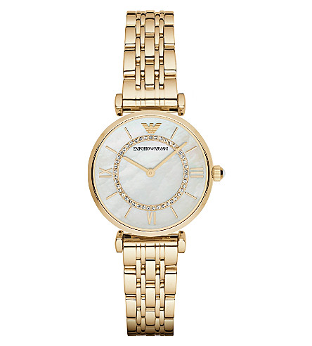 EMPORIO ARMANI AR1907 gold-plated stainless steel watch (Gold