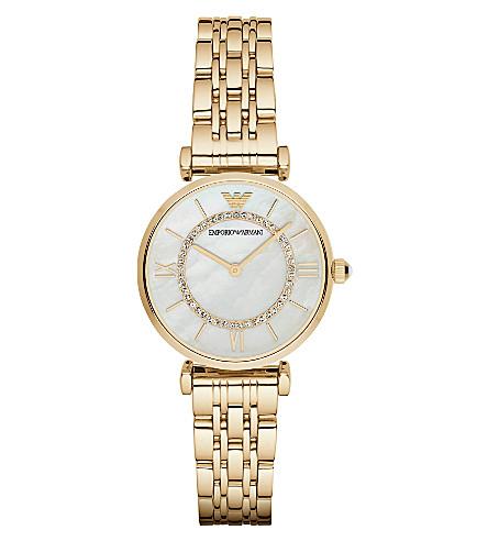 EMPORIO ARMANI AR1907 镀金不锈钢腕表 (金