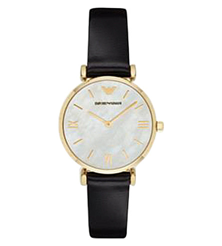 EMPORIO ARMANI AR1910 gold-plated stainless steel watch (Black