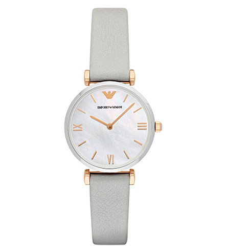 EMPORIO ARMANI AR1965 rose gold-toned stainless steel watch (Mother-of-pearl