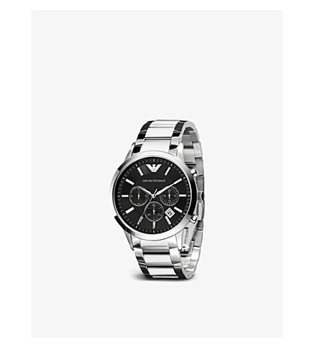 EMPORIO ARMANI SWISS AR2434 stainless steel watch (Black