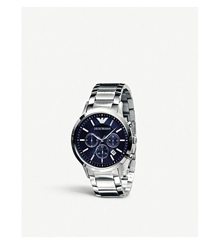 EMPORIO ARMANI AR2448 classic chronograph watch (Silver