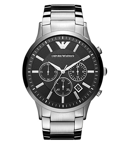 EMPORIO ARMANI AR2460 stainless steel watch (Black