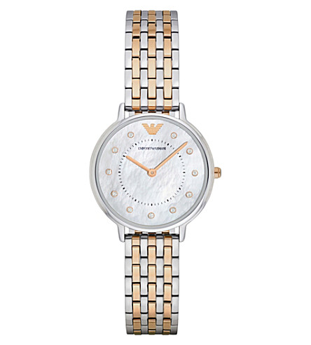 EMPORIO ARMANI AR2508 stainless steel and gold watch