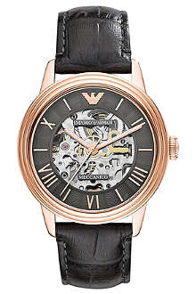 EMPORIO ARMANI AR4670 Dino stainless steel and leather watch
