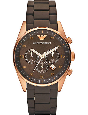EMPORIO ARMANI AR5890 stainless steel and silicone unisex watch