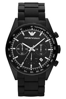EMPORIO ARMANI AR5981 Sportivo stainless steel and rubber chronograph watch