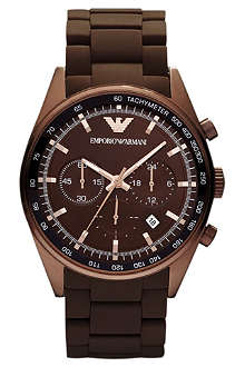 EMPORIO ARMANI AR5982 Stainless steel and rubber chronograph watch