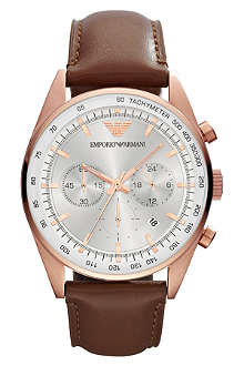 EMPORIO ARMANI AR5995 Sportivo leather strap watch