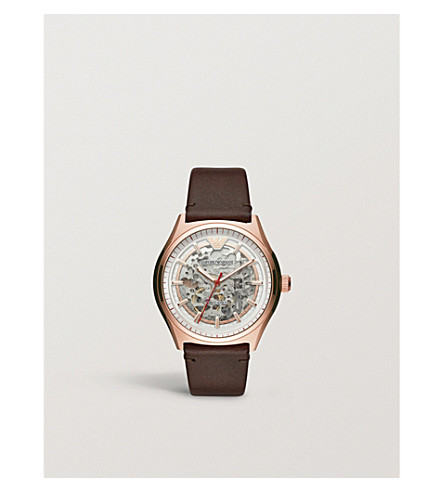 EMPORIO ARMANI 泽塔玫瑰金色调手表