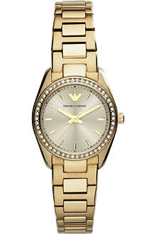 EMPORIO ARMANI AR6031 Sportivo gold-toned watch