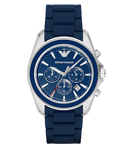 EMPORIO ARMANI AR6068 stainless steel watch (Bl1+-+blue+1