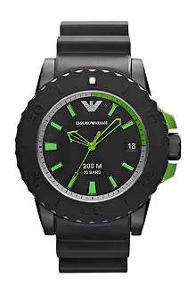 EMPORIO ARMANI ar6102 rubber watch