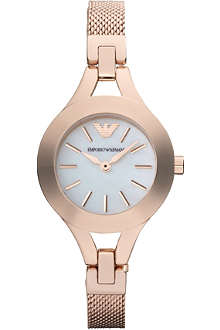 EMPORIO ARMANI Rose gold and mother of pearly watch