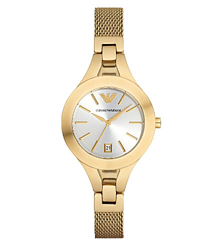 EMPORIO ARMANI AR7399 gold-toned watch (Gold