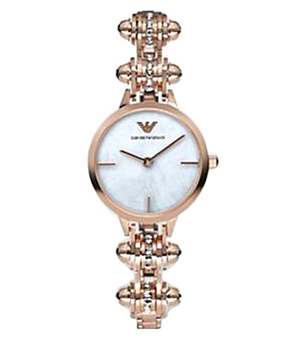 EMPORIO ARMANI AR7408 rose gold-plated stainless steel watch (Rose+gold