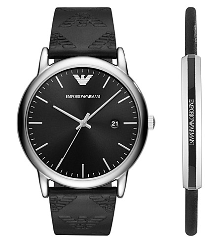 EMPORIO ARMANI AR80012 Luigi stainless steel quartz watch gift set