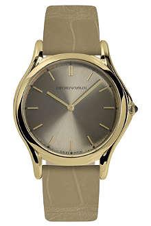 EMPORIO ARMANI SWISS ARS2011 unisex alligator strap watch