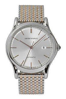 EMPORIO ARMANI SWISS ARS3007 stainless steel and rose-gold toned watch