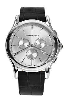 EMPORIO ARMANI SWISS ARS4002 stainless steel and alligator watch
