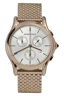 EMPORIO ARMANI SWISS ARS6009 rose gold-toned plated watch