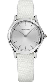 EMPORIO ARMANI SWISS ARS7004 stainless steel and lizard-skin watch