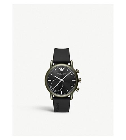 EMPORIO ARMANI ART3016 路易不锈钢和橡胶混合 smartwatch