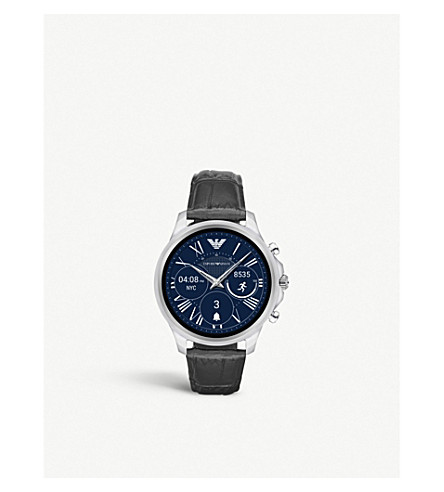 EMPORIO ARMANI ART7000 阿尔伯特压花 crocdile 真皮触摸屏 smartwatch 表带