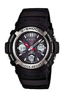 G-SHOCK AWG-M100-1AER G-Shock Waveceptor chronograph solar-powered watch