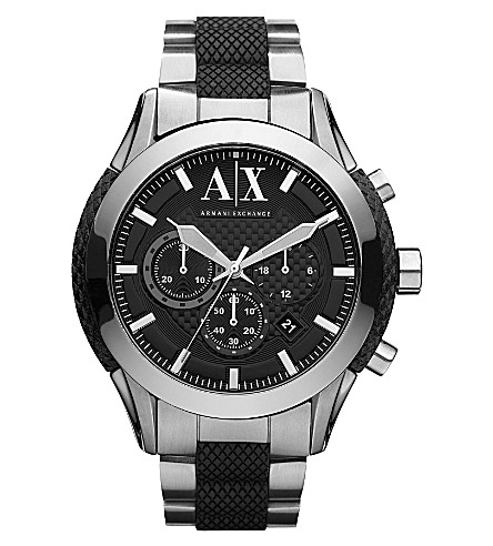ARMANI EXCHANGE AX1214 stainless steel watch (Black