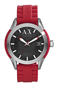 ARMANI EXCHANGE AX1227 stainless steel and rubber bracelet