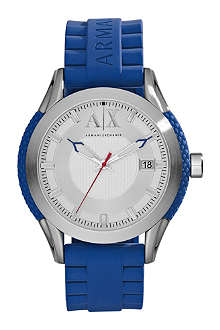 ARMANI EXCHANGE AX1228 stainless steel and rubber watch