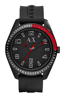 ARMANI EXCHANGE AX1301 stainless steel and rubber watch