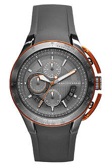 ARMANI EXCHANGE AX1402 stainless steel and rubber chronograph watch