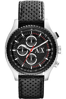 ARMANI EXCHANGE AX1600 active watch with perforated strap