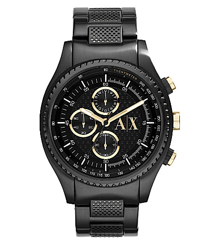 ARMANI EXCHANGE AX1604 stainless steel watch (Black