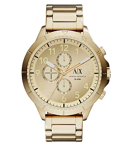 ARMANI EXCHANGE AX1752 gold-plated stainless steel watch (Gold