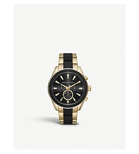 ARMANI EXCHANGE AX1814 gold-plated chronograph watch