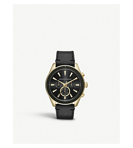 ARMANI EXCHANGE AX1818 gold-coated stainless steel watch