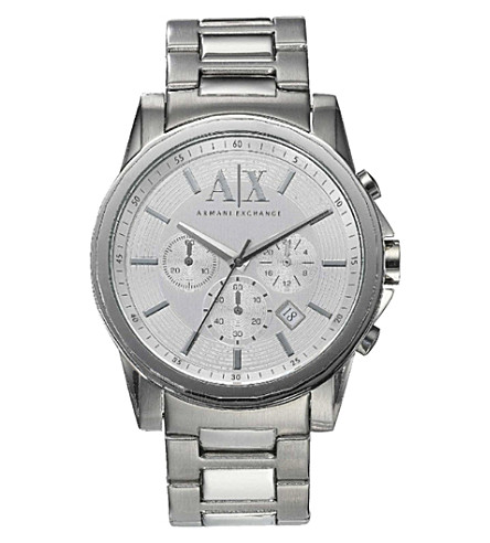 ARMANI EXCHANGE AX2058 stainless steel watch (Silver