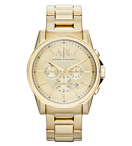 ARMANI EXCHANGE AX2099 gold-plated watch (Gold