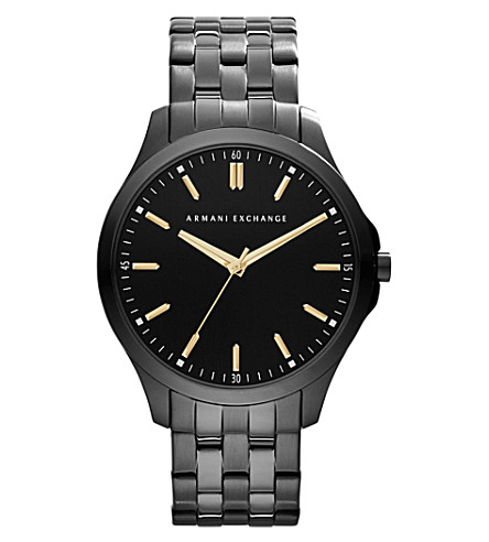 ARMANI EXCHANGE AX2144 ion-plated steel watch (Black