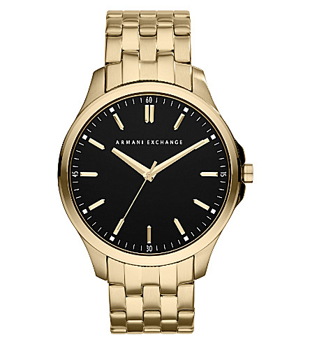 ARMANI EXCHANGE AX2145 gold-plated watch (Black
