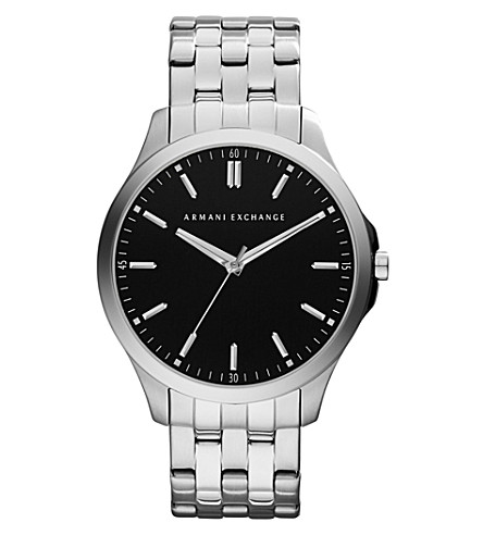 ARMANI EXCHANGE AX2147 silver-plated watch (Black
