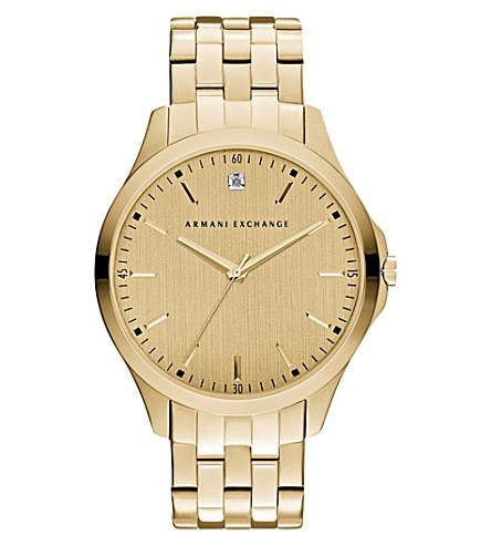 ARMANI EXCHANGE 钻石标记手镯手表