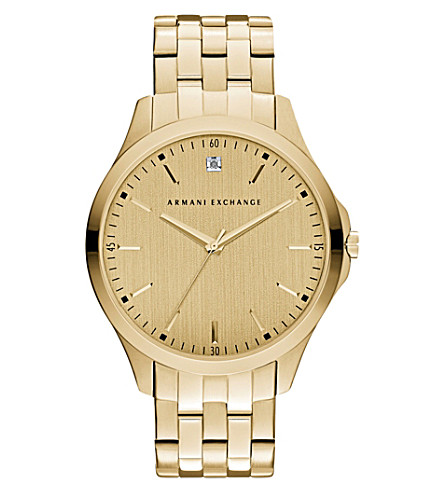 ARMANI EXCHANGE 钻石标志手镯手表
