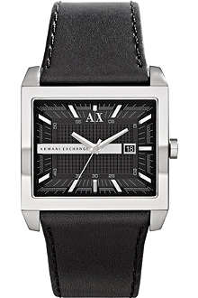 ARMANI EXCHANGE ax2203 leather strap watch