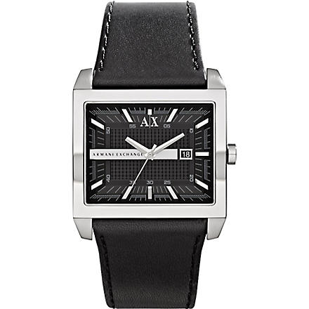 ARMANI EXCHANGE ax2203 leather strap watch (Black