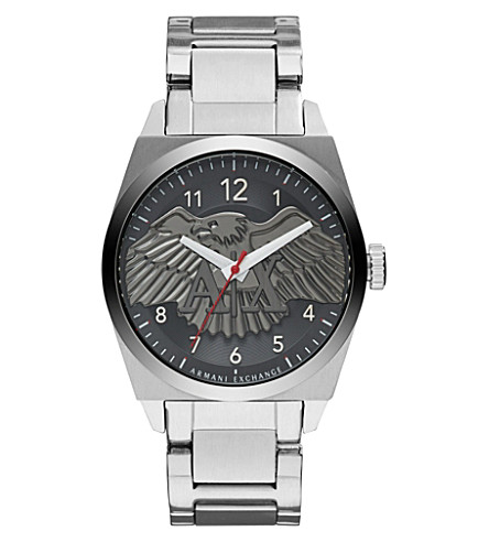 ARMANI EXCHANGE AX2308 stainless steel watch (Black