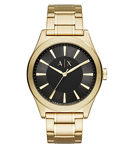 ARMANI EXCHANGE AX2321 Gold-plated bracelet watch